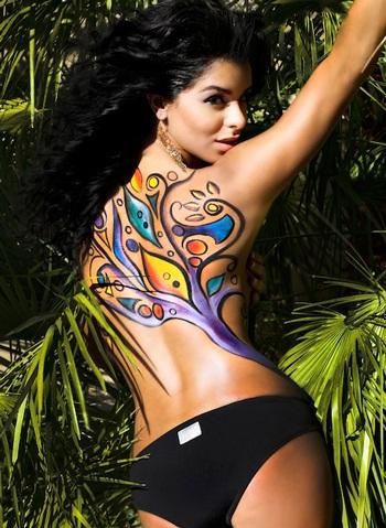 Người đẹp Hoàn vũ làm người mẫu body painting  - 10