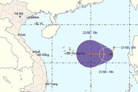 Áp thấp nhiệt đới trên biển Đông tiếp tục mạnh thêm - 1