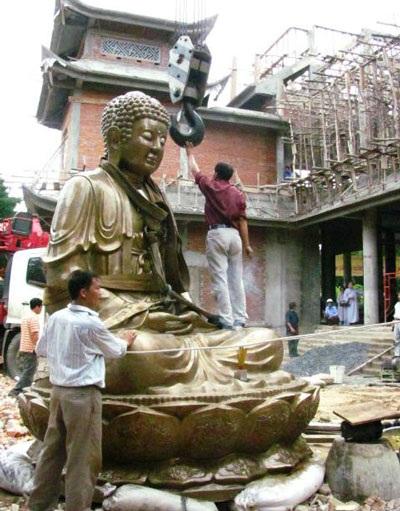 Cung đón tượng Phật Thích Ca Mâu Ni lớn nhất miền Trung - 1