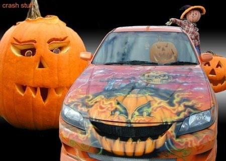 Hãi hùng xe trang trí kiểu Halloween - 5