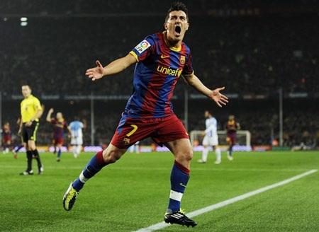 David Villa kết thúc lượt đi ấn tượng cùng Barca - 1