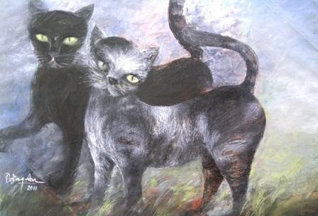 Xem chùm tranh mèo dí dỏm đầu xuân Tân Mão - 6