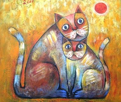 Xem chùm tranh mèo dí dỏm đầu xuân Tân Mão - 5