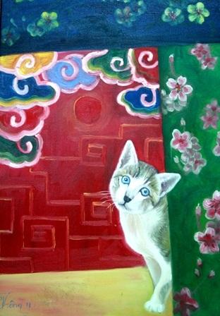 Xem chùm tranh mèo dí dỏm đầu xuân Tân Mão - 7