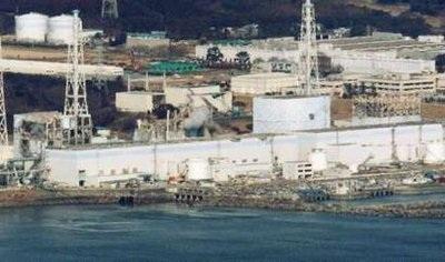 Nhà máy điện Fukushima I, nhà máy bị tàn phá trong thảm họa động đất/sóng thần hơn một năm trước.