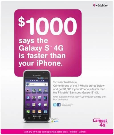 """T-Mobile """"thách thức"""" người dùng iPhone so tài - 1"""