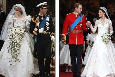 Những hình ảnh giống nhau tại lễ cưới hoàng tử William và bố mẹ - 1