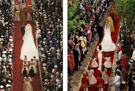 Những hình ảnh giống nhau tại lễ cưới hoàng tử William và bố mẹ - 2