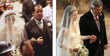 Những hình ảnh giống nhau tại lễ cưới hoàng tử William và bố mẹ - 3