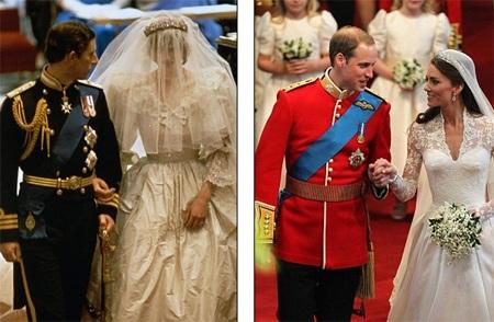 Những hình ảnh giống nhau tại lễ cưới hoàng tử William và bố mẹ - 4