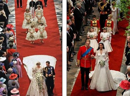 Những hình ảnh giống nhau tại lễ cưới hoàng tử William và bố mẹ - 5