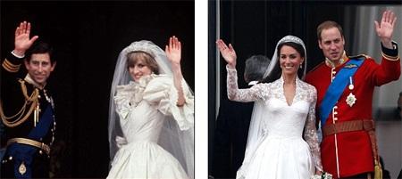 Những hình ảnh giống nhau tại lễ cưới hoàng tử William và bố mẹ - 8