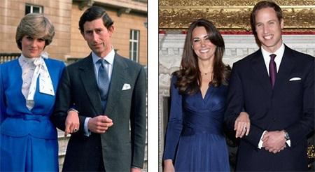 Những hình ảnh giống nhau tại lễ cưới hoàng tử William và bố mẹ - 9
