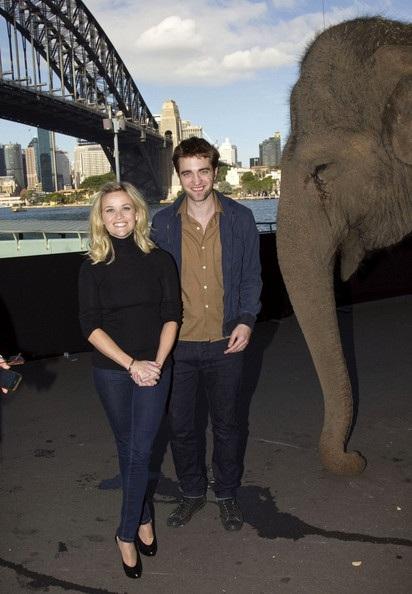 "Robert Pattinson - Reese Witherspoon: ""Đọ dáng"" với voi - 8"