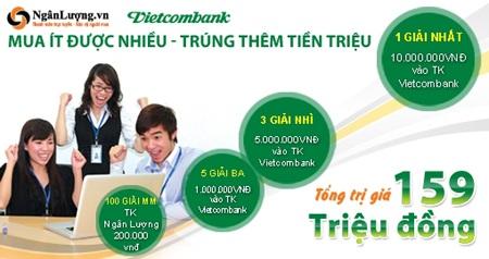 Cơ hội trúng lớn khi nạp tiền thanh toán qua cổng Nganluong.vn  - 1