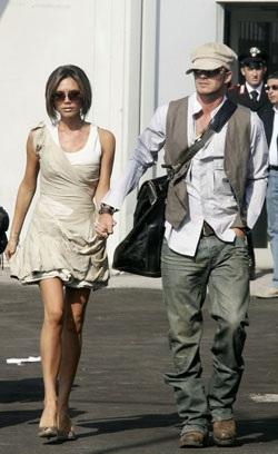 Vợ chồng Beckham đã đến Venice! - 1