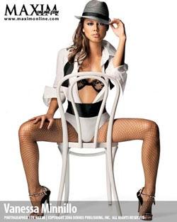 Vanessa Minnillo - Làn da nâu nóng bỏng trên bìa Maxim - 3