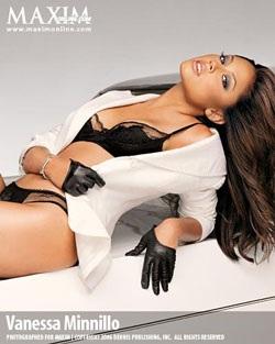Vanessa Minnillo - Làn da nâu nóng bỏng trên bìa Maxim - 2