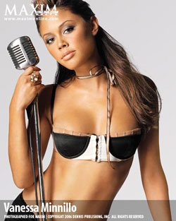 Vanessa Minnillo - Làn da nâu nóng bỏng trên bìa Maxim - 1