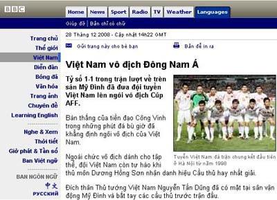Báo chí quốc tế đồng loạt đưa tin Việt Nam vô địch - 2