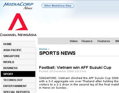 Báo chí quốc tế đồng loạt đưa tin Việt Nam vô địch - 5