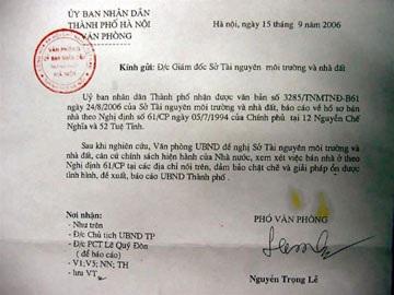 Đề nghị bán biệt thự nhà nước cho ông Hoàng Văn Nghiên - 1
