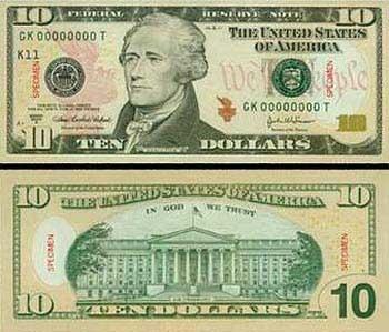 Hoa Kỳ phát hành đồng 10 USD mới - 1