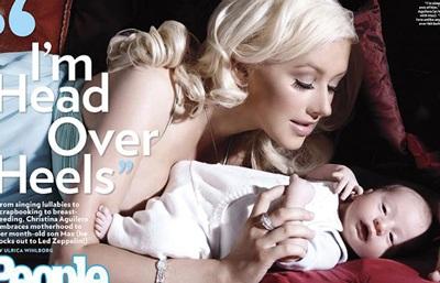 Christina Aguilera khoe con - 1