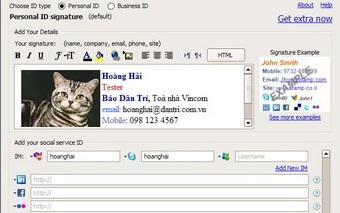 """Sở hữu chữ kí email """"không đụng hàng"""" với WiseStamp - 1"""