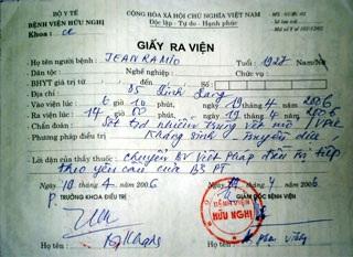 Bệnh viện Việt - Pháp từ chối cung cấp thông tin - 1