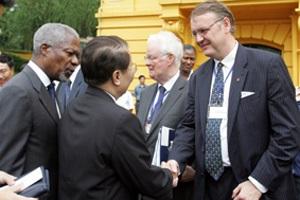 Chủ tịch Trần Đức Lương tiếp Tổng thư ký Liên hợp quốc Kofi Annan - 2