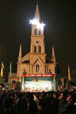 Đón Giáng sinh ở nhà thờ Cầu Rầm - 1