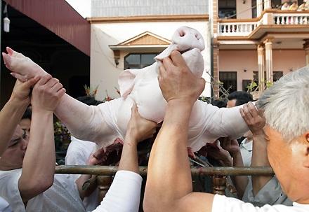 """Lễ tế """"ông lợn"""" đặc sắc ở La Phù - 5"""