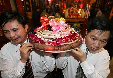 """Lễ tế """"ông lợn"""" đặc sắc ở La Phù - 12"""