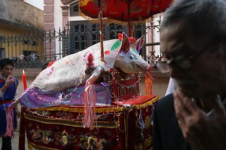 """Lễ tế """"ông lợn"""" đặc sắc ở La Phù - 8"""