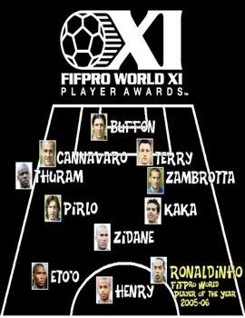 Ronaldinho tiếp tục được vinh danh tại FIFPro - 2