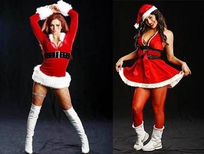 Nữ đấu sỹ hóa thân trong trang phục Noel gợi cảm - 13