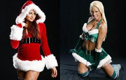 Nữ đấu sỹ hóa thân trong trang phục Noel gợi cảm - 8