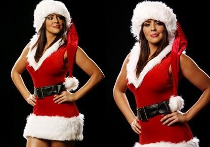 Nữ đấu sỹ hóa thân trong trang phục Noel gợi cảm - 3