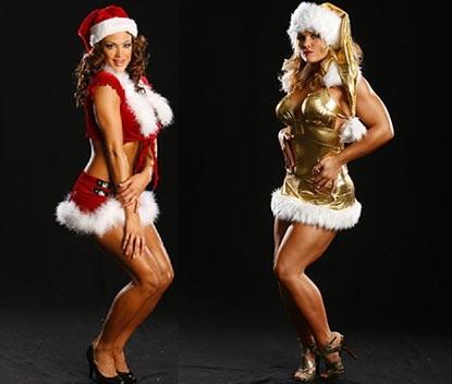Nữ đấu sỹ hóa thân trong trang phục Noel gợi cảm - 5