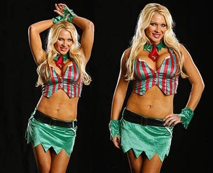 Nữ đấu sỹ hóa thân trong trang phục Noel gợi cảm - 6