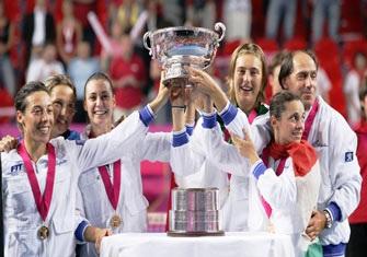 """Henin gặp vận """"đen"""", Italia đăng quang tại Fed Cup - 4"""