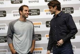 """""""Vua"""" Federer đối đầu """"cựu hoàng"""" Sampras tại xứ Hàn - 1"""
