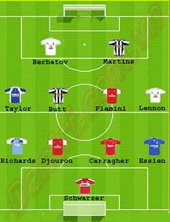Đội hình tiêu biểu Premiership vòng 17 - 1