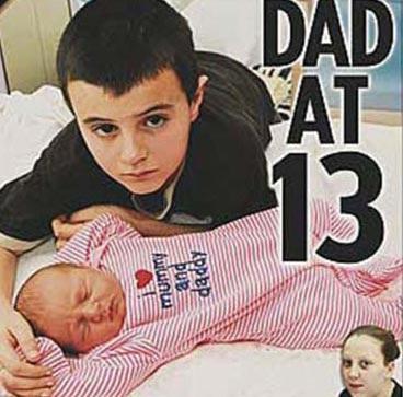 Cậu bé 13 tuổi có thể không phải là cha ruột đứa trẻ - 1