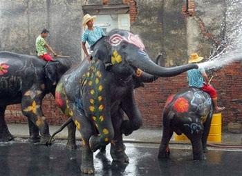 Lễ hội Té nước lớn nhất trong năm tại Thái Lan - 7