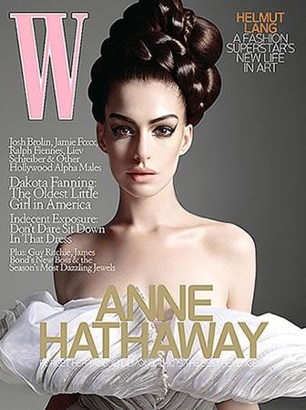 Anne Hathaway yêu kiều trên tạp chí W - 1