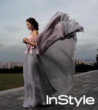 Chiêm ngưỡng bộ ảnh cưới của Kim Hee Sun trên Instyle - 4