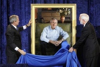 Tiết lộ ảnh chân dung chính thức của vợ chồng Tổng thống Bush - 2