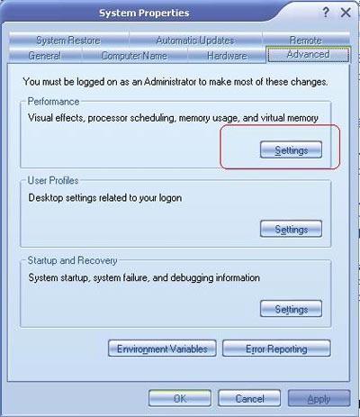Sử dụng bộ nhớ ảo trong Windows XP - 1